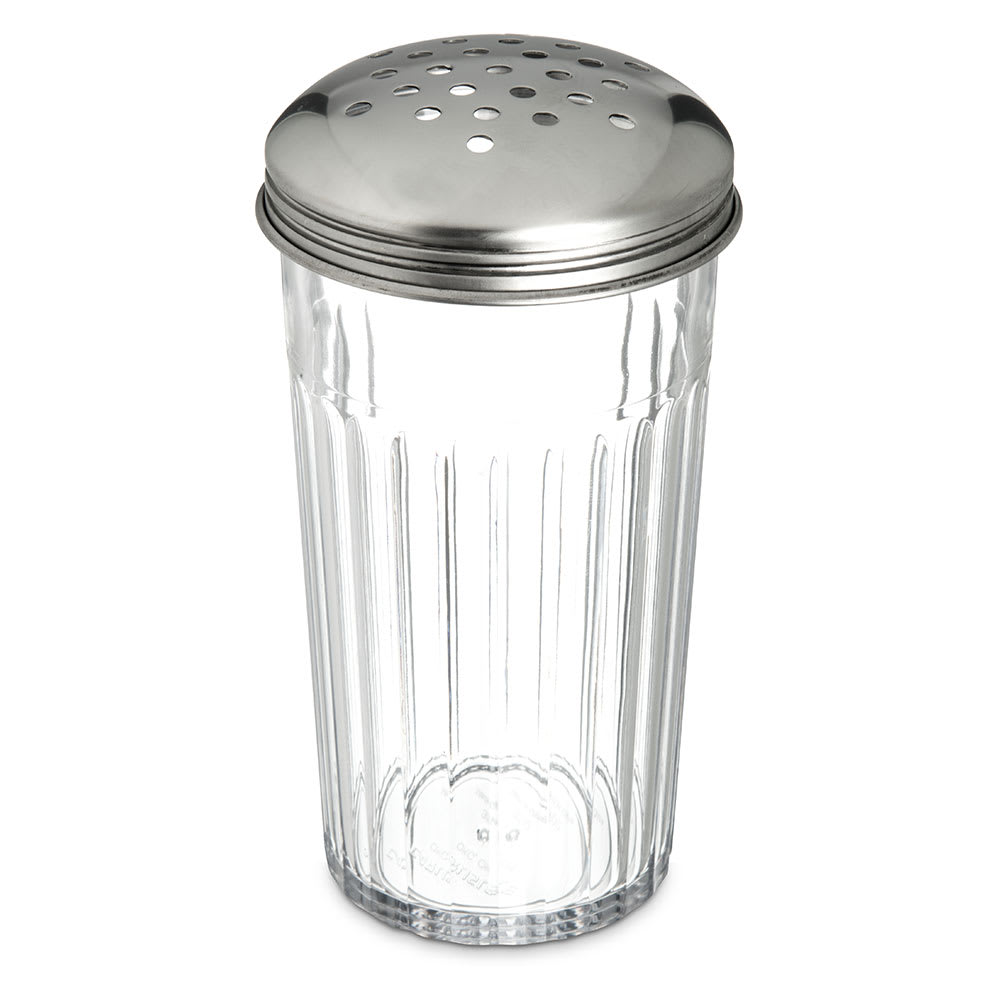 Carlisle 331907 12 oz Cheese Shaker - Stainless/Clear