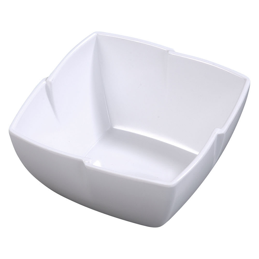 Carlisle 3331002 1 1/2 qt Rave Square Serving Bowl - Melamine, White