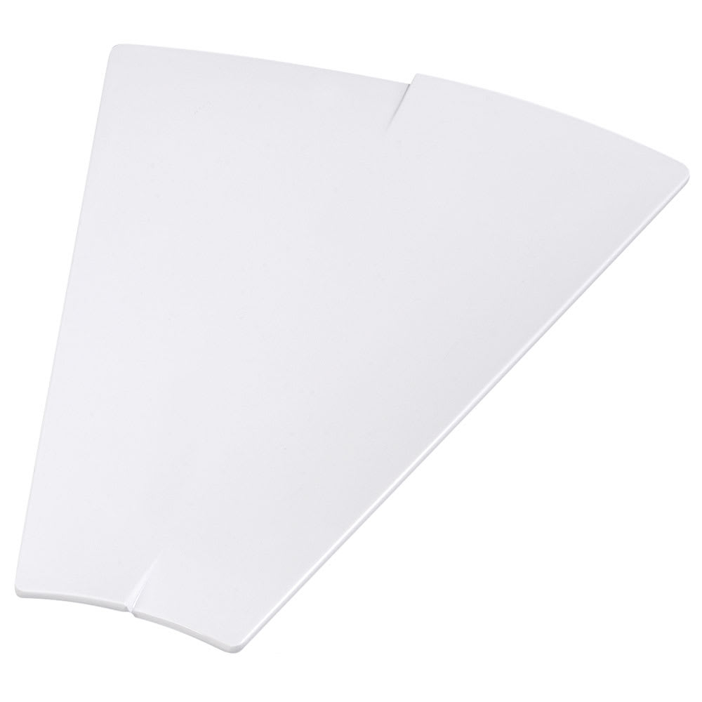 "Carlisle 3332602 Trapezoid Rave Platter - 15 3/8x12"" White"