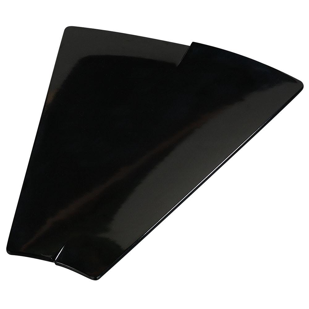 """Carlisle 3332603 Trapezoid Rave Platter - 15-3/8x12"""" Black"""