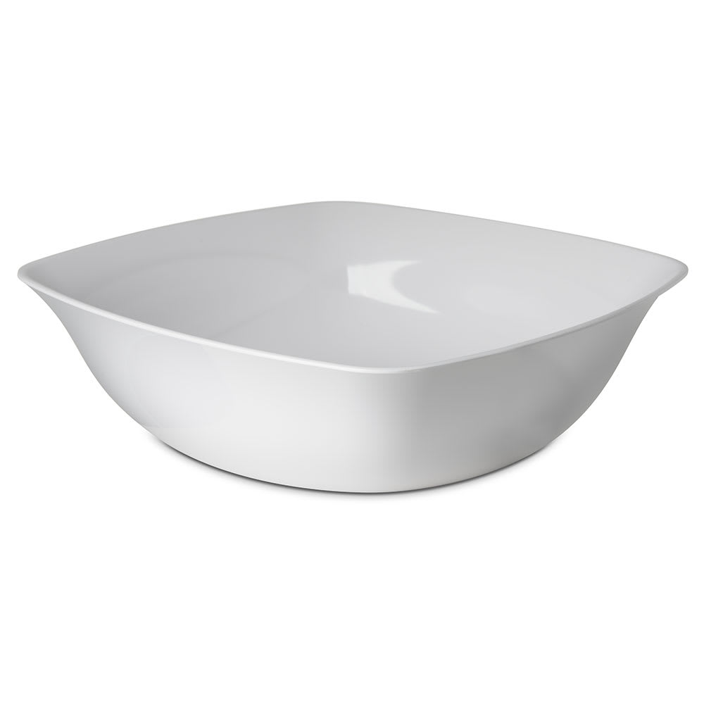 Carlisle 3336202 8 qt Square Flared Bowl - Melamine, White