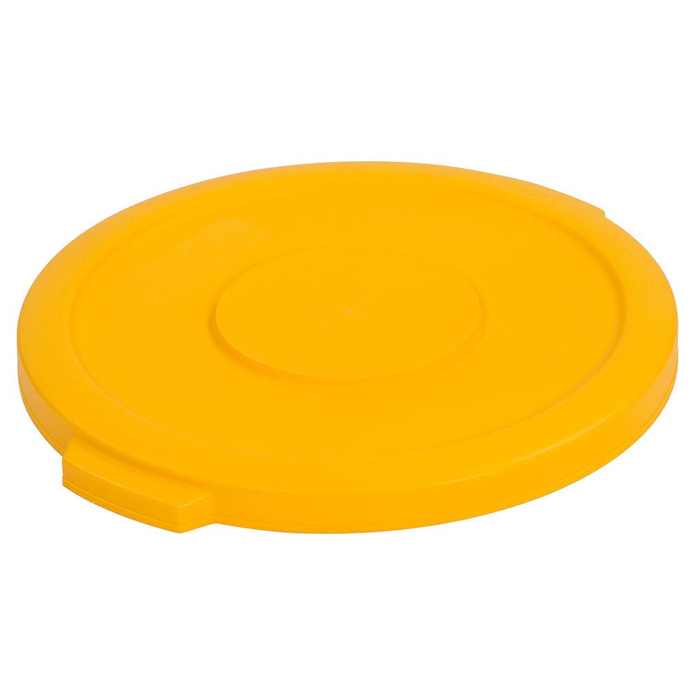 Carlisle 34101104 Round Flat Trash Can Lid - Plastic, Yellow
