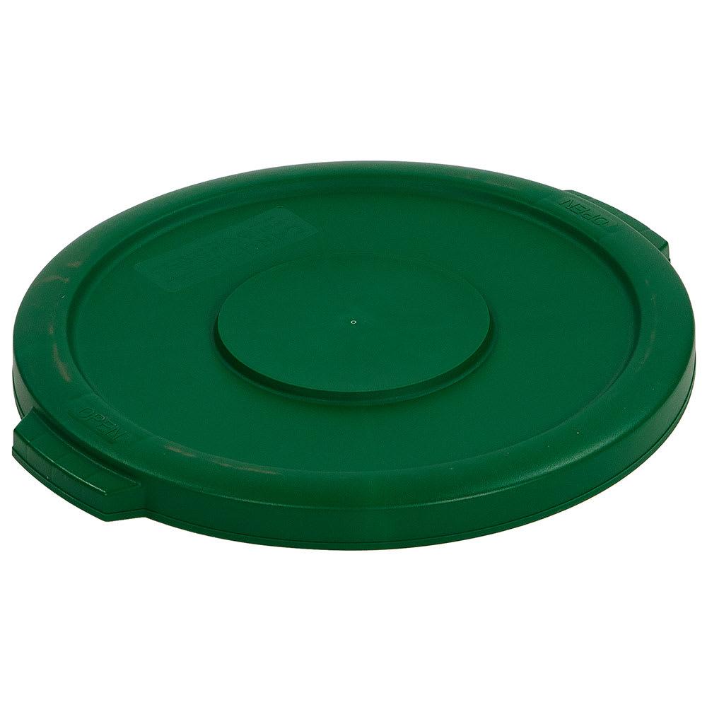 Carlisle 34101109 Round Flat Trash Can Lid - Plastic, Green