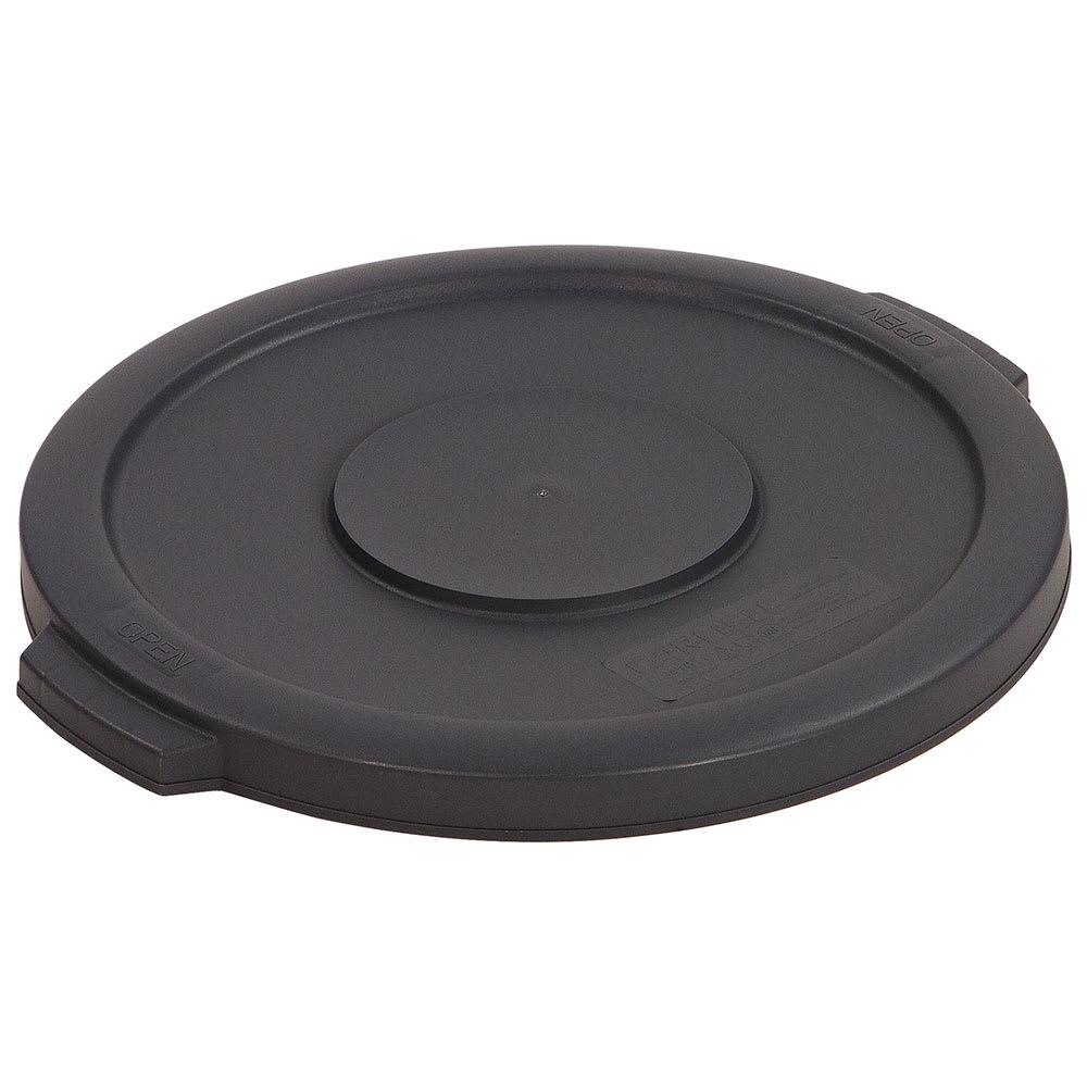 Carlisle 34101123 Round Flat Trash Can Lid - Plastic, Gray
