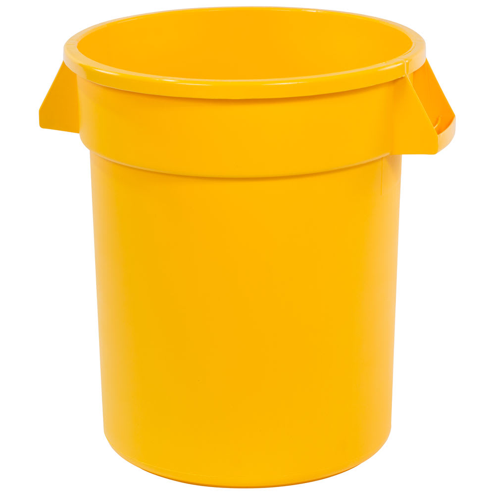 Carlisle 34102004 20 gallon Commercial Trash Can - Plastic, Round, Food Rated