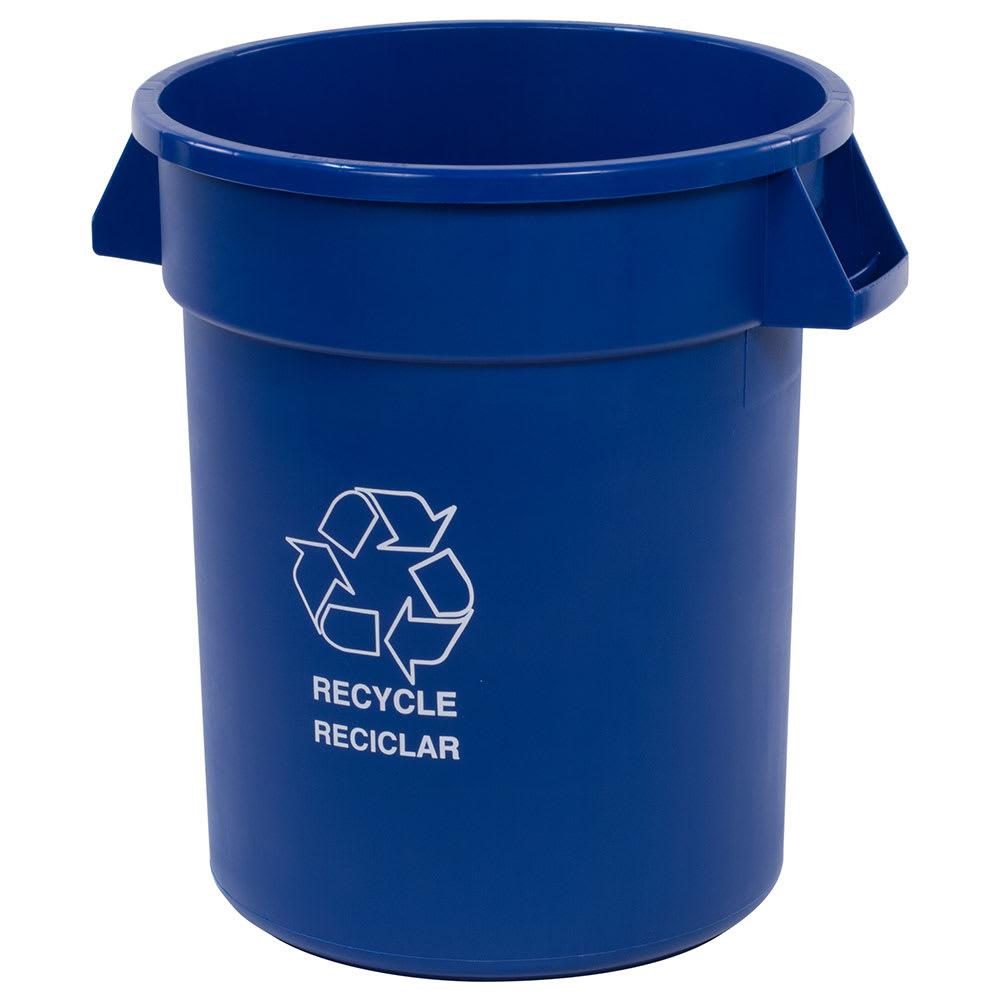 Carlisle 341020REC14 20 gal Multiple Materials Recycle Bin - Indoor/Outdoor