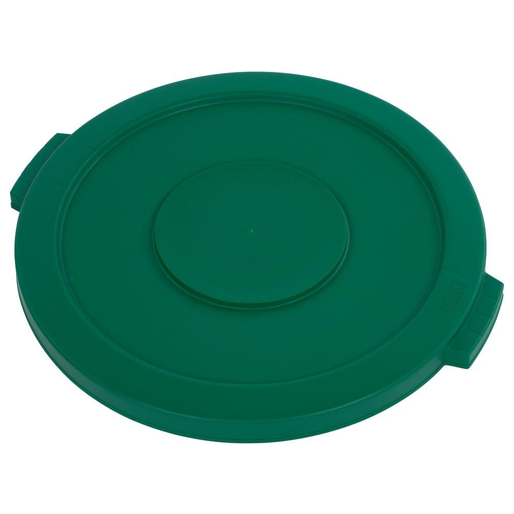 Carlisle 34102109 Round Flat Trash Can Lid - Plastic, Green