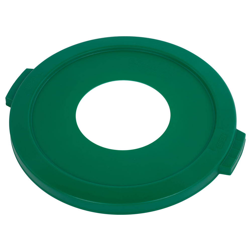 Carlisle 341021REC09 Round Recycling Trash Can Lid - Plastic, Green