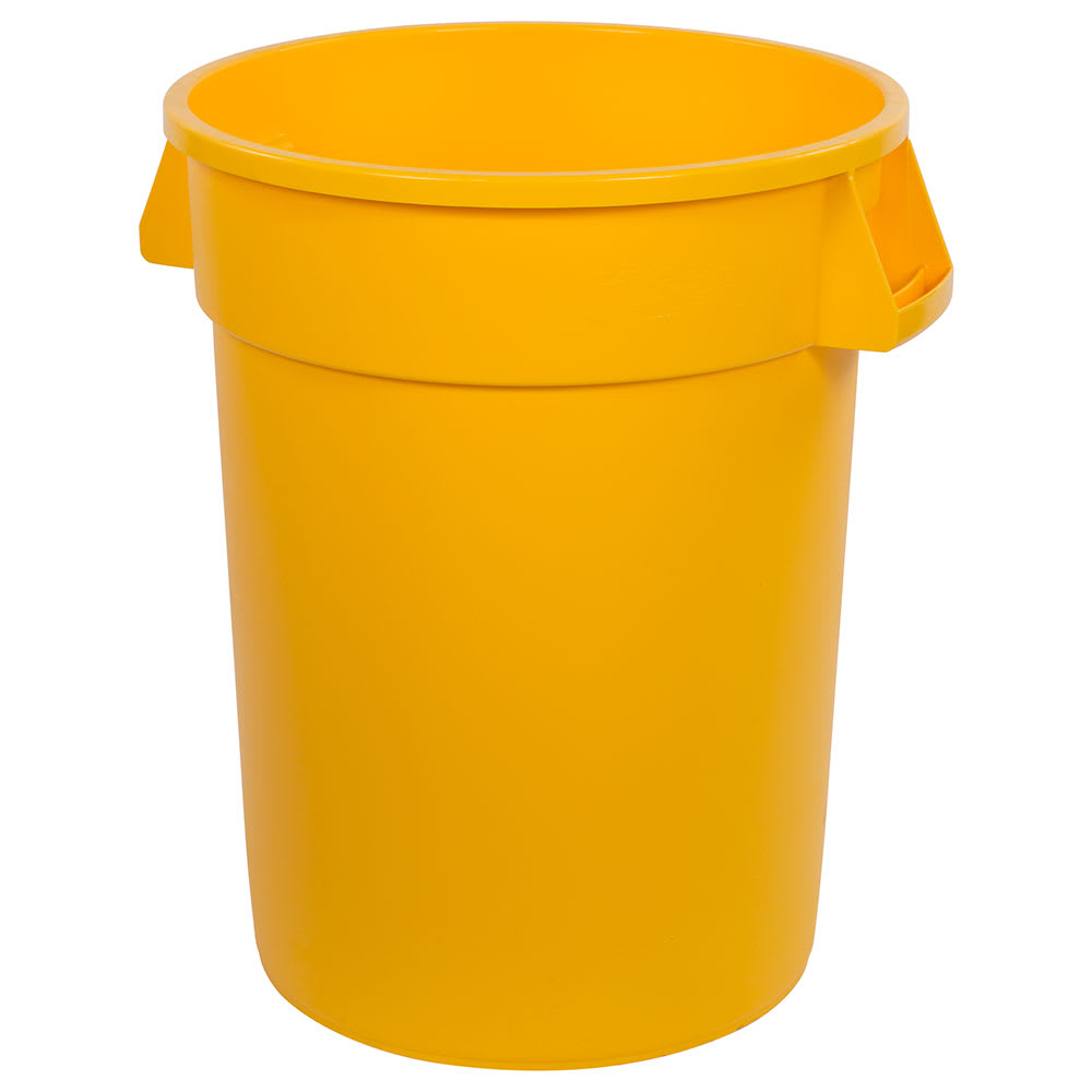 Carlisle 34103204 32 gallon Commercial Trash Can - Plastic, Round, Food Rated