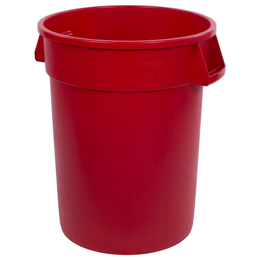 Carlisle 34103205 32 gallon Commercial Trash Can - Plastic, Round, Food Rated