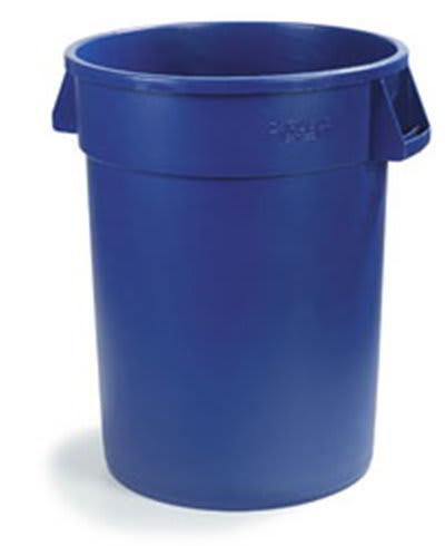 Carlisle 34103214 32-Gallon Round Waste Container, Blue