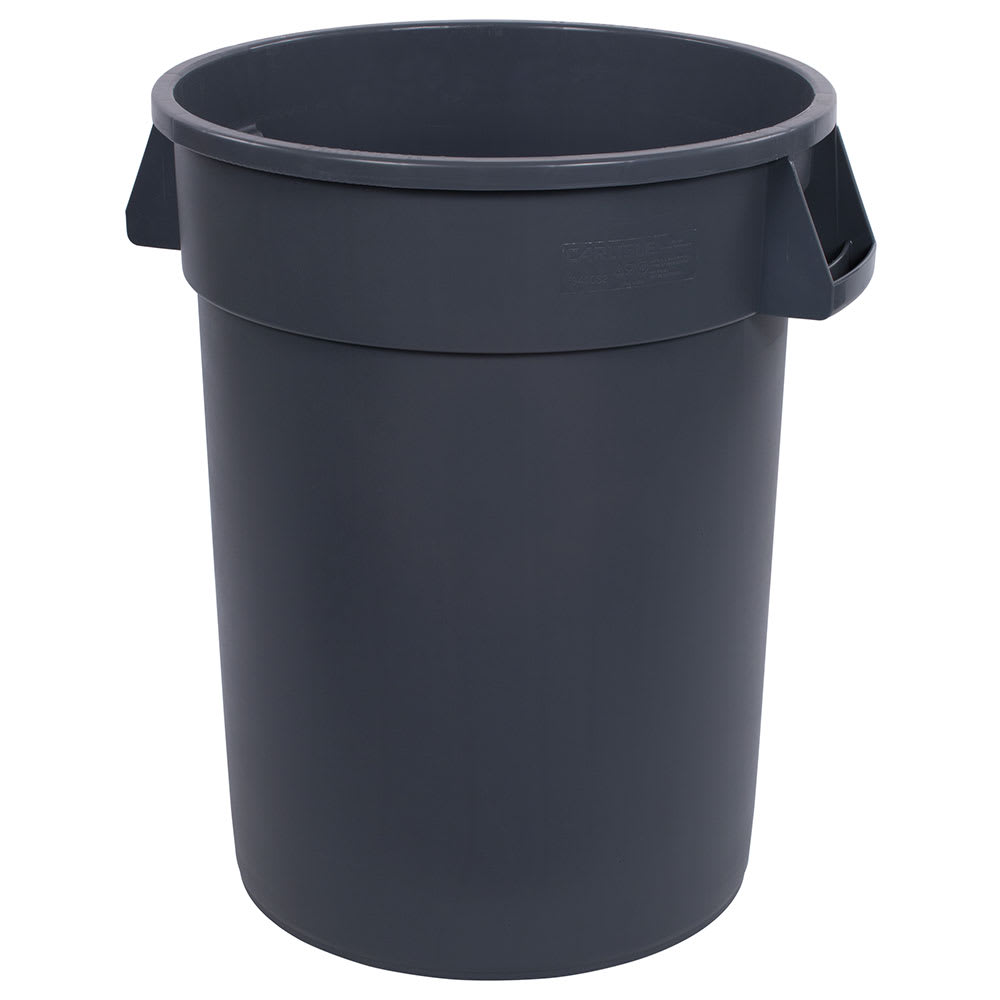 Carlisle 34103223 32 gallon Commercial Trash Can - Plastic, Round, Food Rated