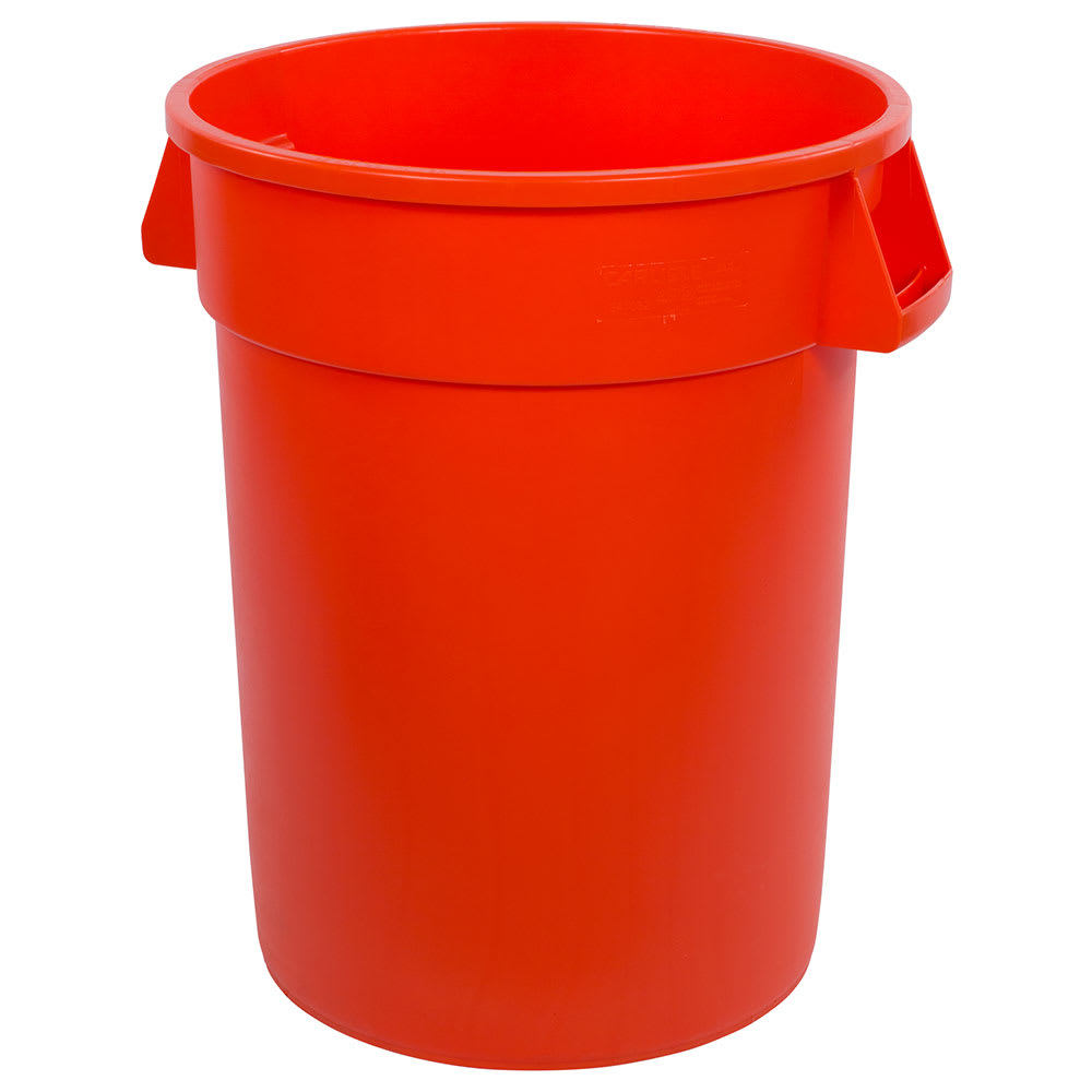 Carlisle 34103224 32 gallon Commercial Trash Can - Plastic, Round, Food Rated