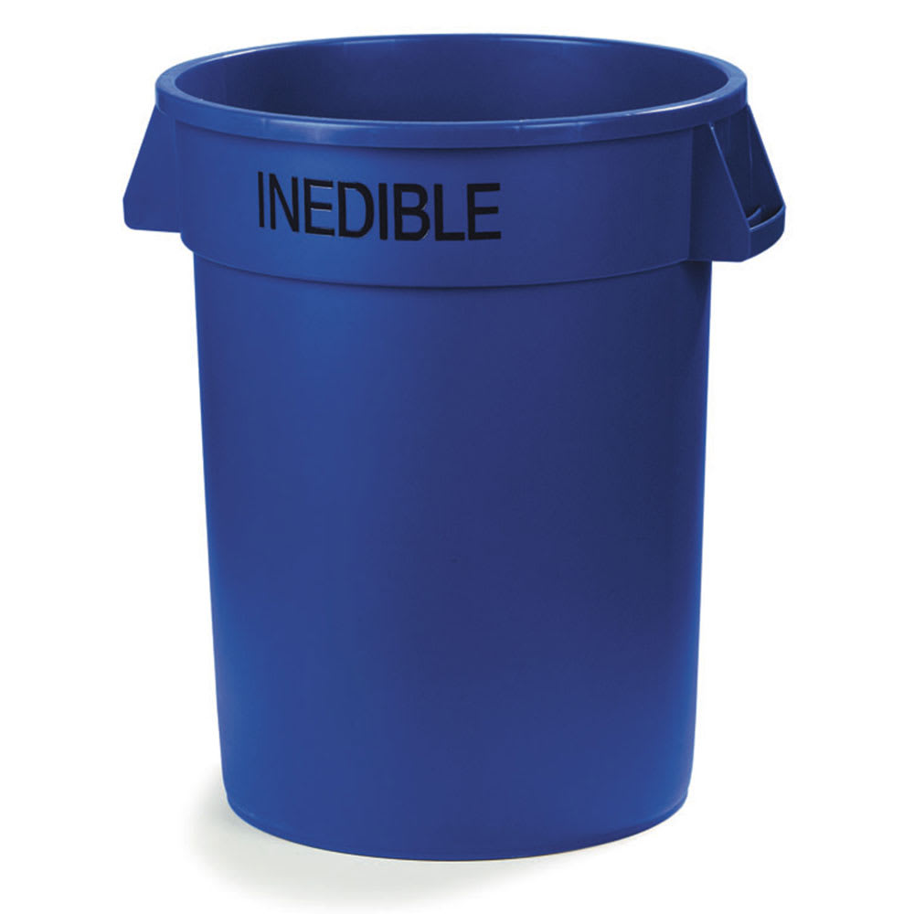 Carlisle 341032INE14 32 gallon Commercial Trash Can - Plastic, Round, Food Rated