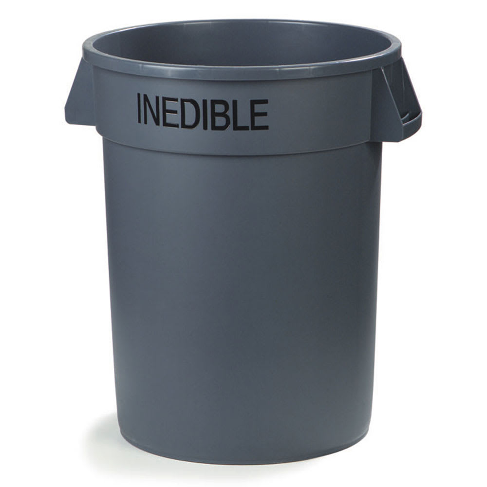 Carlisle 341032INE23 32 gallon Commercial Trash Can - Plastic, Round, Food Rated