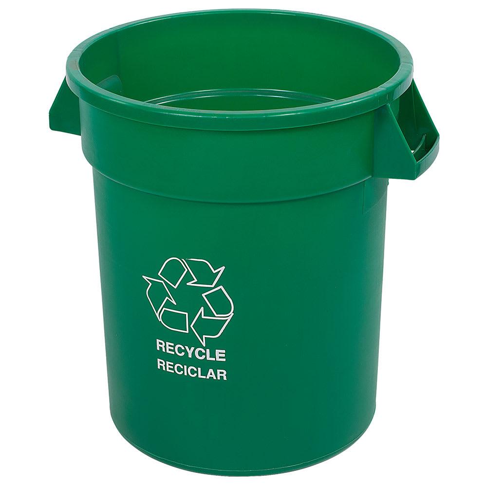 Carlisle 341032REC09 32 gal Multiple Materials Recycle Bin - Indoor/Outdoor
