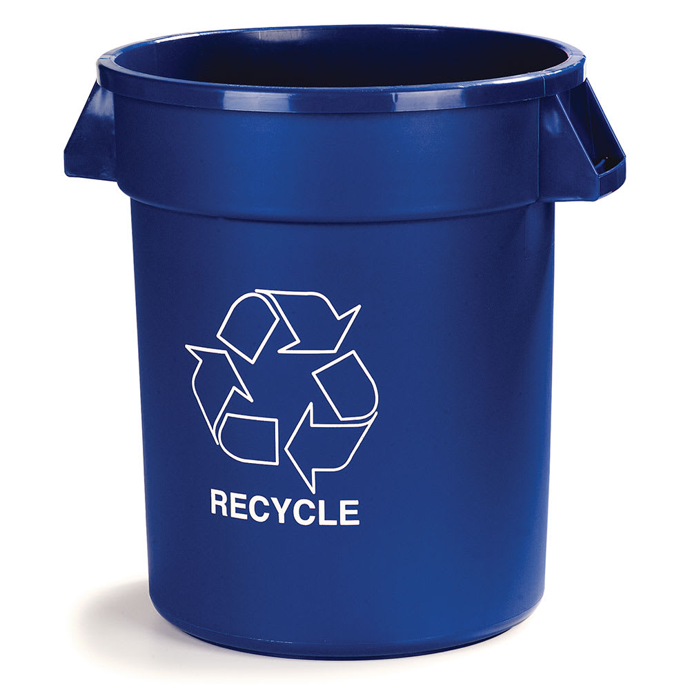 Carlisle 341032REC14 32 gal Multiple Materials Recycle Bin - Indoor/Outdoor