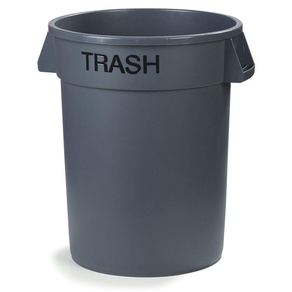 Carlisle 341032TRA23 32 gallon Commercial Trash Can - Plastic, Round, Food Rated