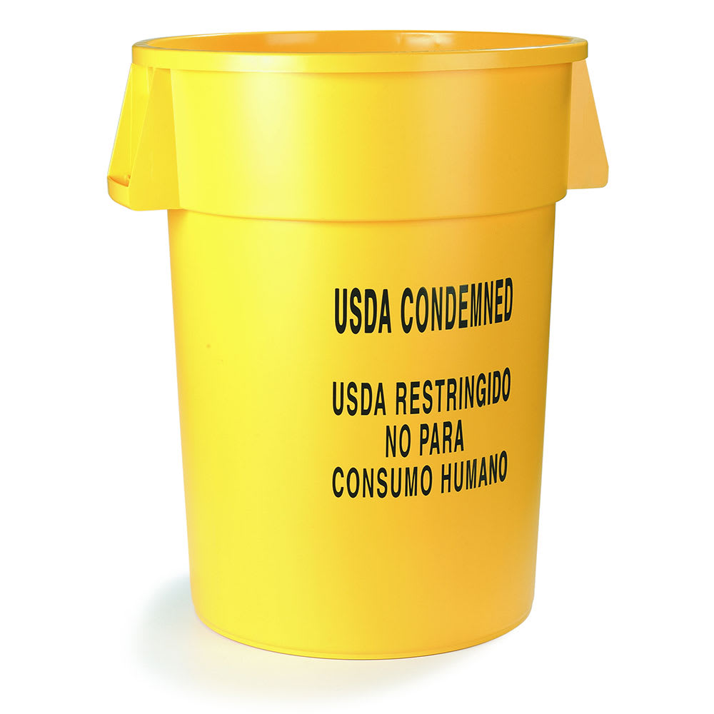 Carlisle 341032USD04 32 gallon Commercial Trash Can - Plastic, Round, Food Rated