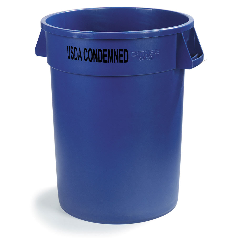 Carlisle 341032USDA14 32-gallon Commercial Trash Can - Plastic, Round, Food Rated