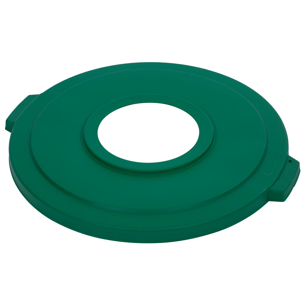 Carlisle 341033REC09 Round Recycling Trash Can Lid - Plastic, Green