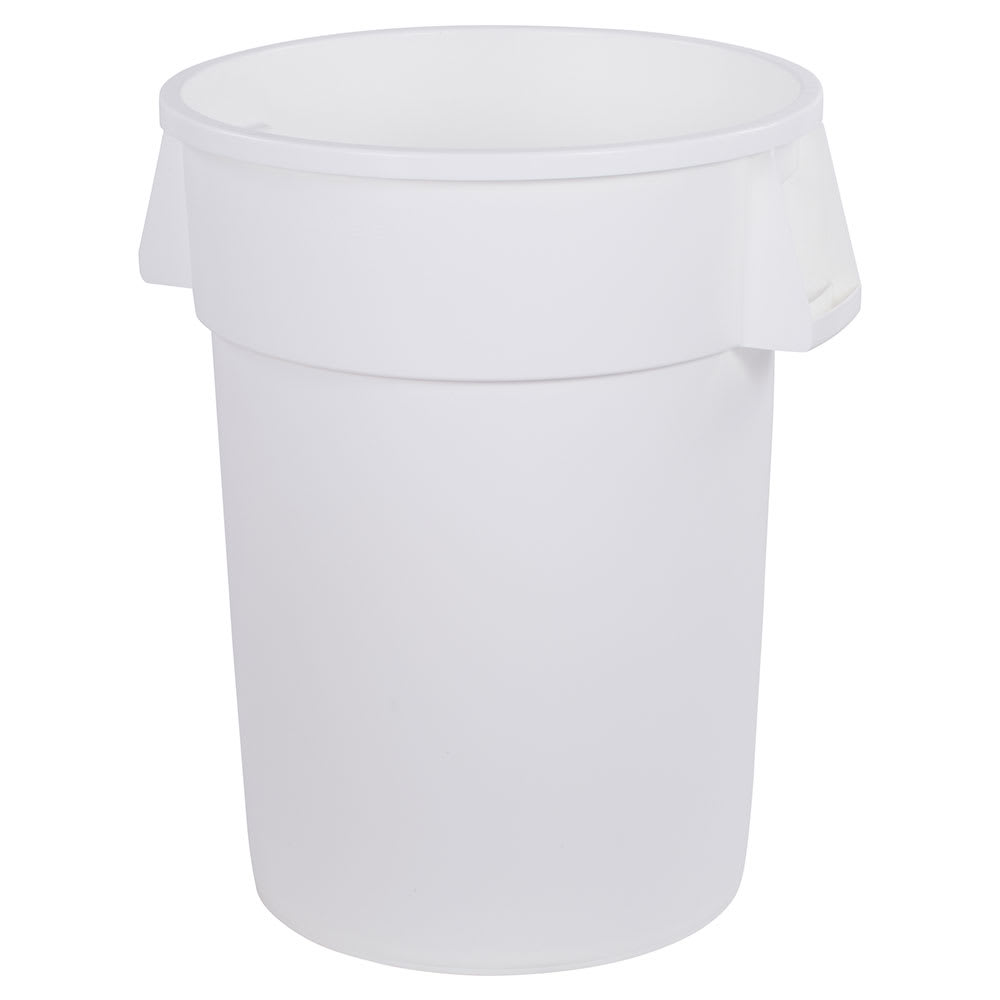 Carlisle 34104402 44 gallon Commercial Trash Can - Plastic, Round, Food Rated