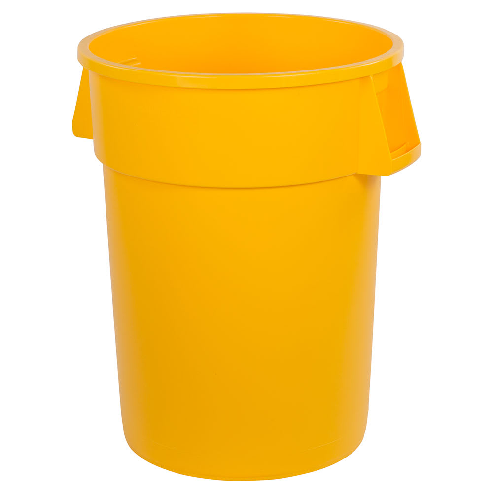 Carlisle 34104404 44 gallon Commercial Trash Can - Plastic, Round, Food Rated