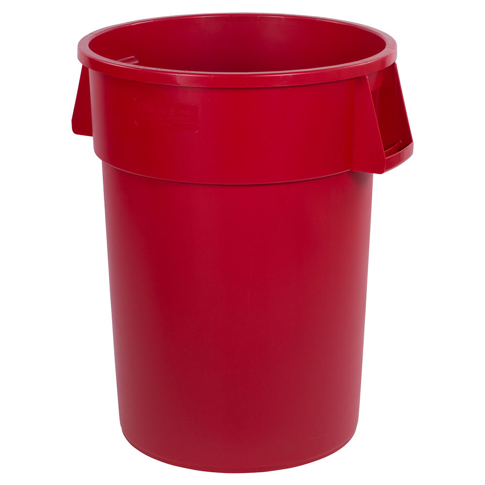 Carlisle 34104405 44 gallon Commercial Trash Can - Plastic, Round, Food Rated
