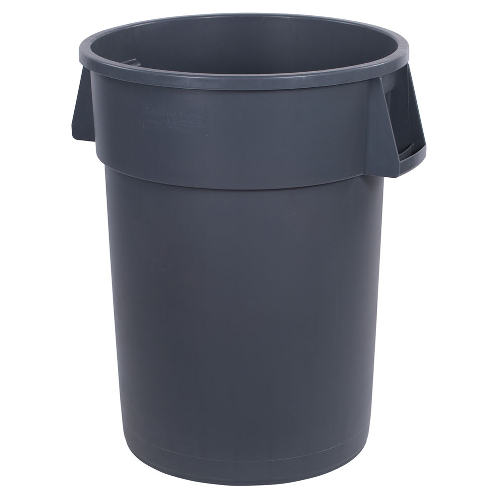 Carlisle 34104423 44-gallon Commercial Trash Can - Plastic, Round, Food Rated