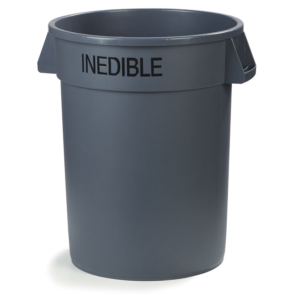 Carlisle 341044INE23 44 gallon Commercial Trash Can - Plastic, Round, Food Rated