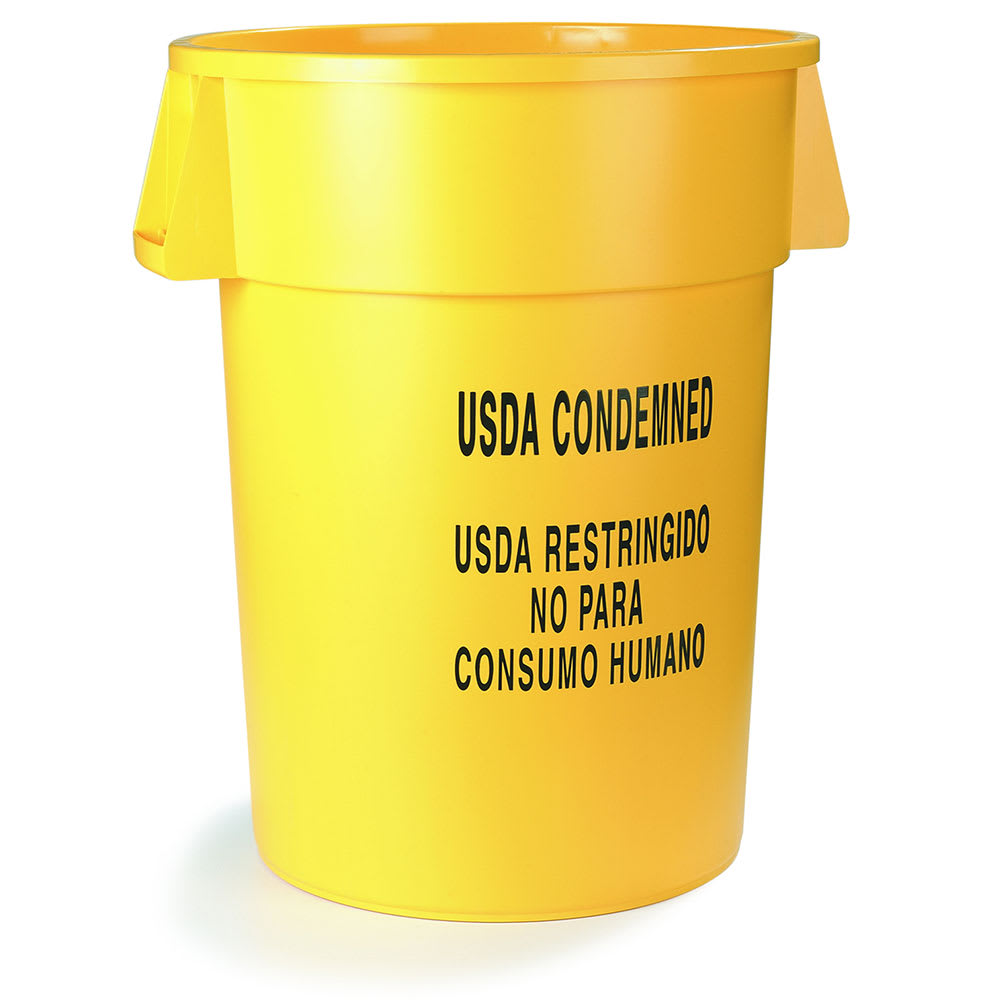Carlisle 341044USD04 44 gallon Commercial Trash Can - Plastic, Round, Food Rated