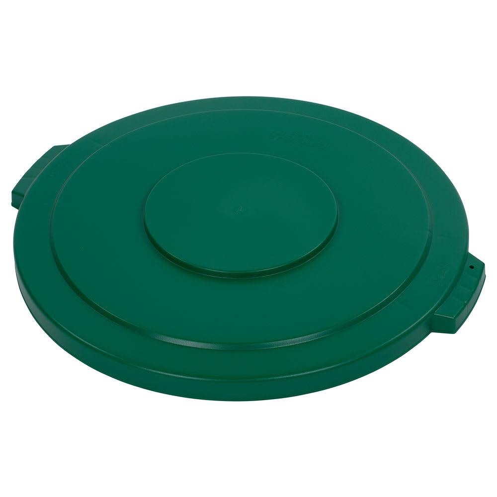 Carlisle 34104509 Round Flat Trash Can Lid - Plastic, Green