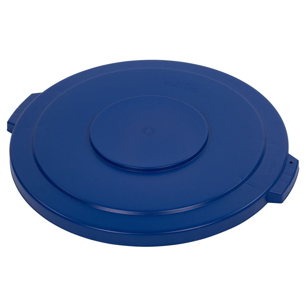 Carlisle 34104514 Round Flat Trash Can Lid - Plastic, Blue