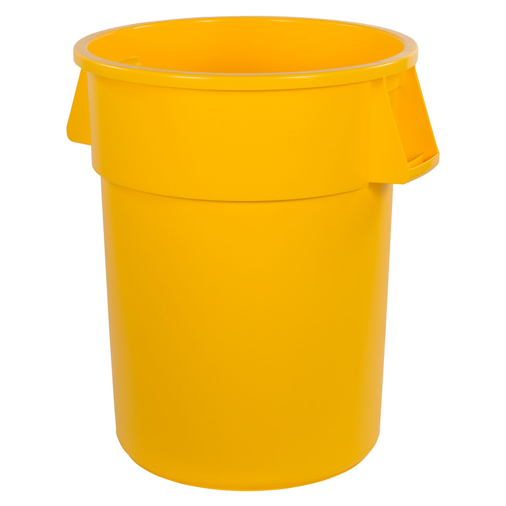 Carlisle 34105504 55 gallon Commercial Trash Can - Plastic, Round, Food Rated