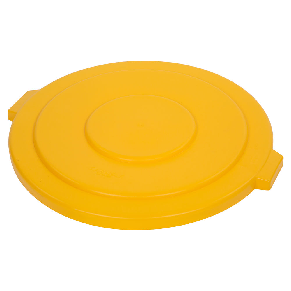 Carlisle 34105604 Round Flat Trash Can Lid - Plastic, Yellow