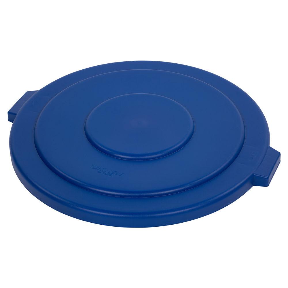 Carlisle 34105614 Round Flat Trash Can Lid - Plastic, Blue