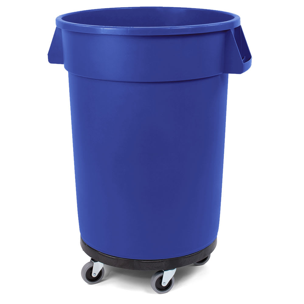 Carlisle 34113214 32-gal Multiple Materials Recycle Bin - Indoor/Outdoor, with Dolly