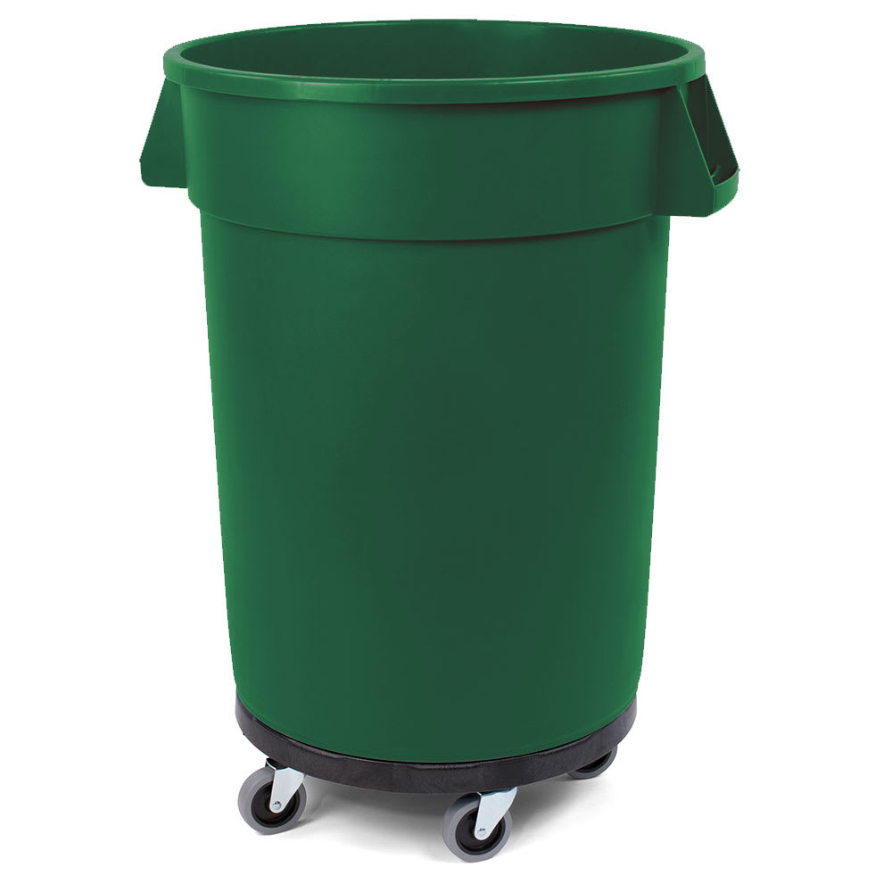 Carlisle 34114409 44 gal Multiple Materials Recycle Bin - Indoor/Outdoor, with Dolly