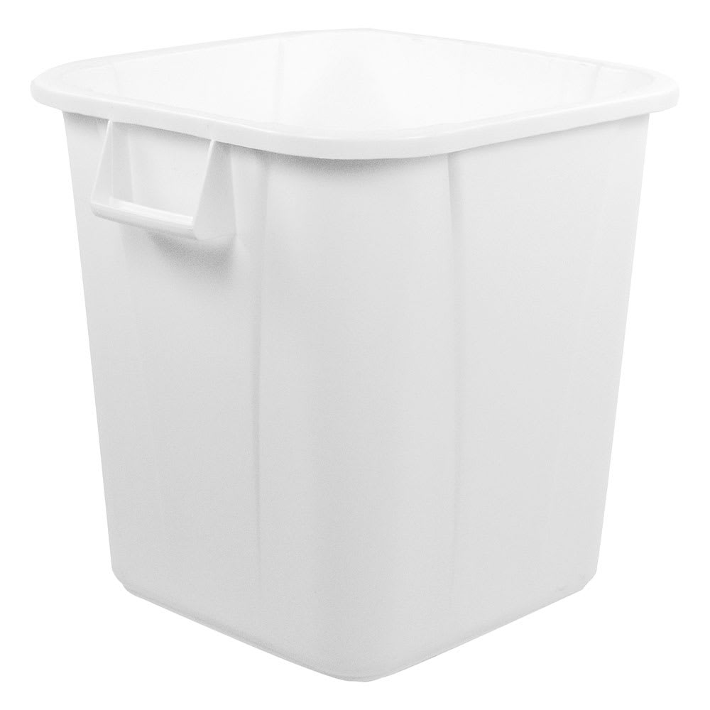 Carlisle 34152802 28-gallon Commercial Trash Can - Plastic, Rectangular, Food Rated