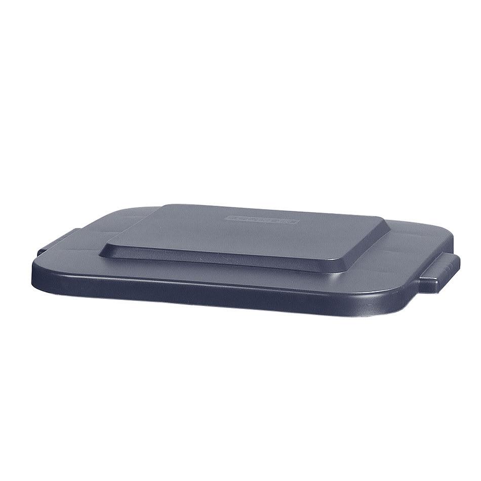 Carlisle 341529-23 Square Flat Trash Can Lid - Plastic, Gray
