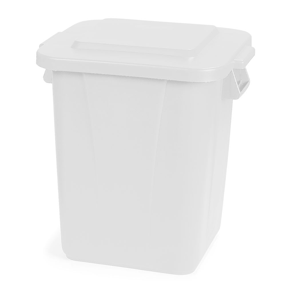 Carlisle 34154002 40-gallon Commercial Trash Can - Plastic, Rectangular, Food Rated