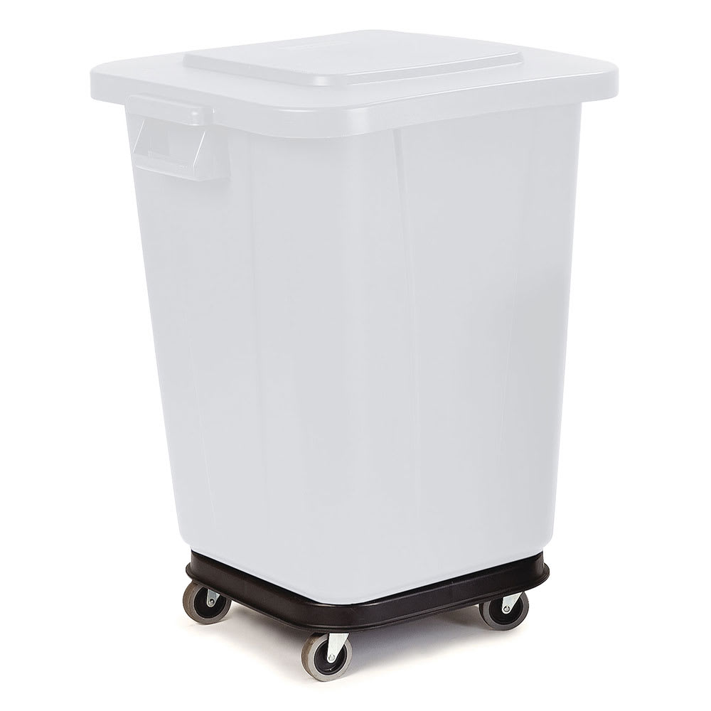 Carlisle 34154203 Square Plastic Trash Can Dolly w/ Flat Center