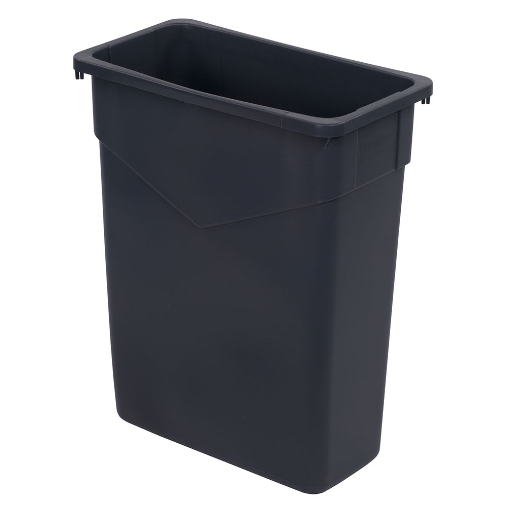3dd6f16fffae Carlisle 34201523 15 gallon Commercial Trash Can - Plastic, Rectangular,  Built-in Handles
