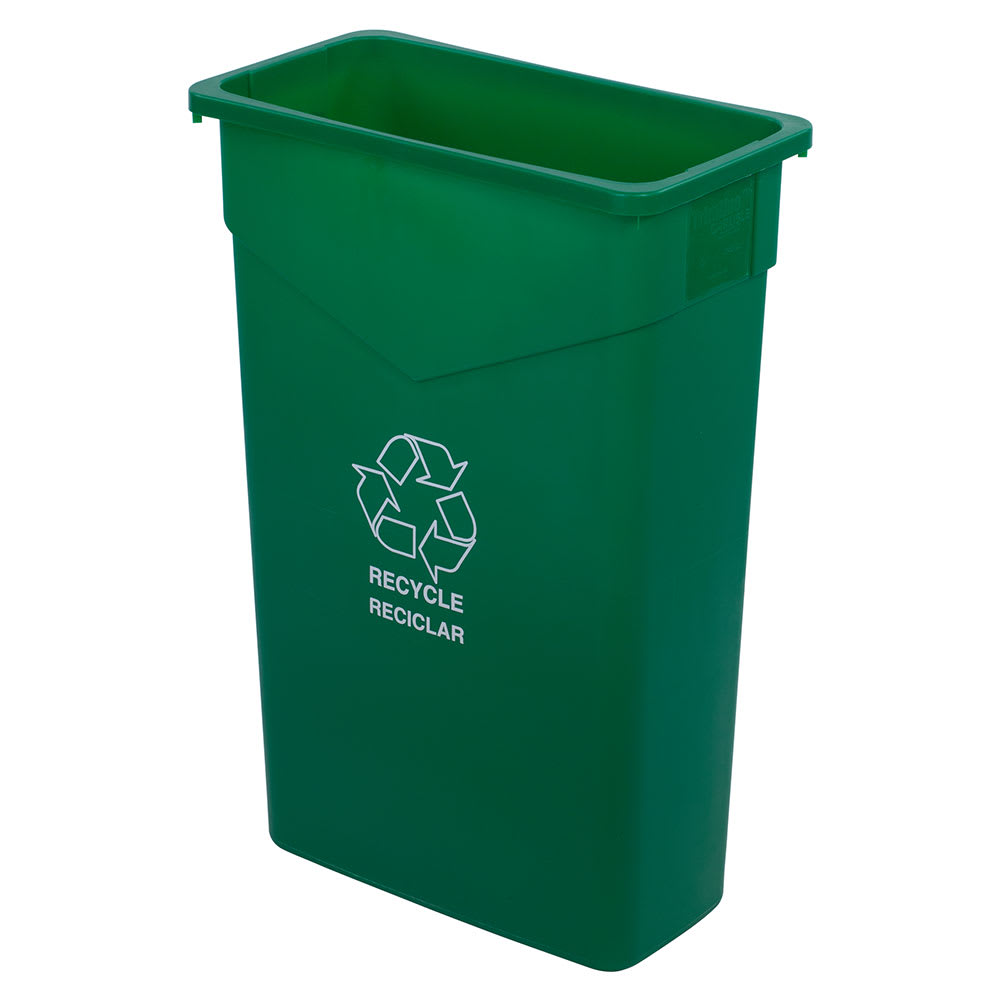 Carlisle 342023REC09 23-gal Multiple Materials Recycle Bin - Indoor