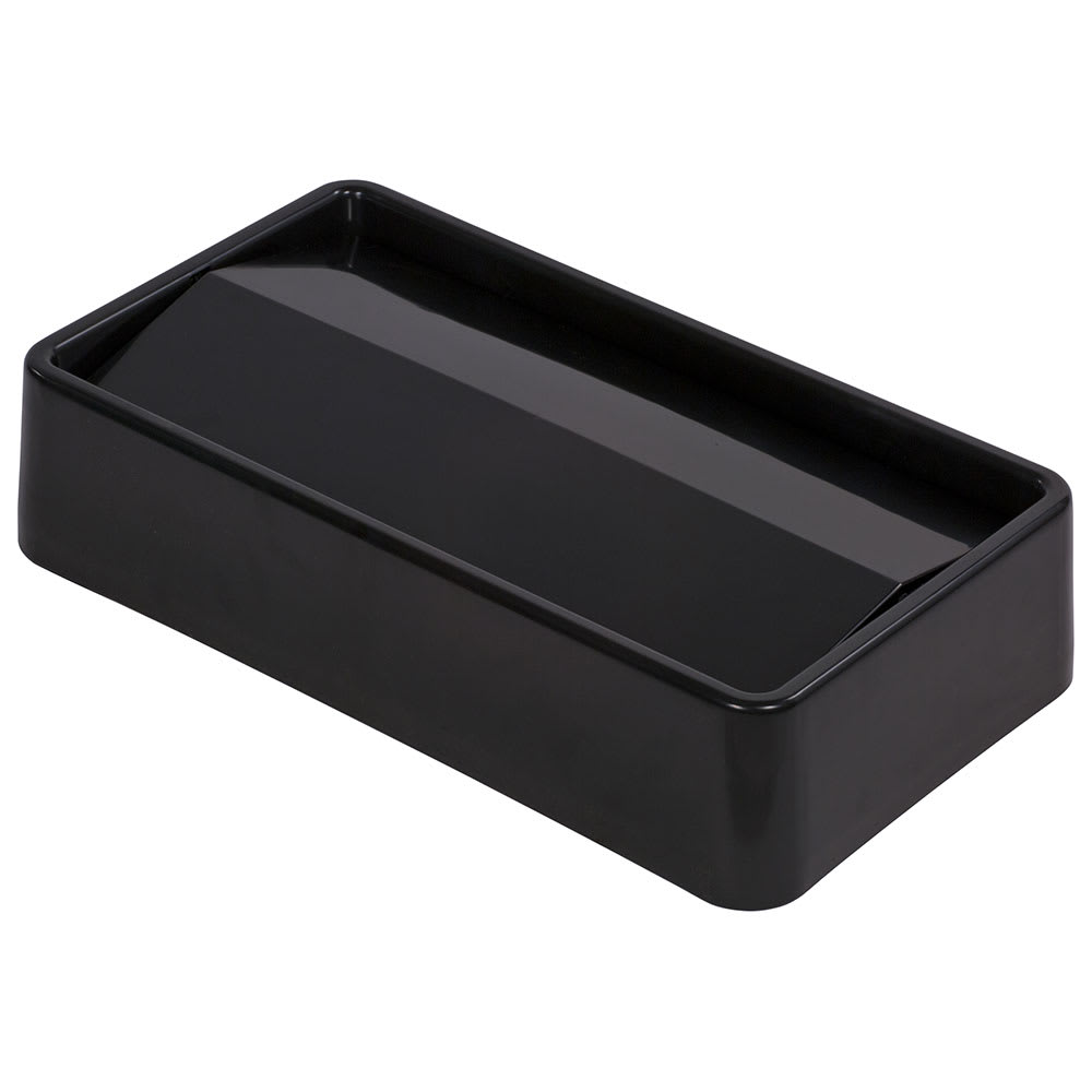 Carlisle 34202403 Rectangle Swing Top Trash Can Lid - Plastic, Black
