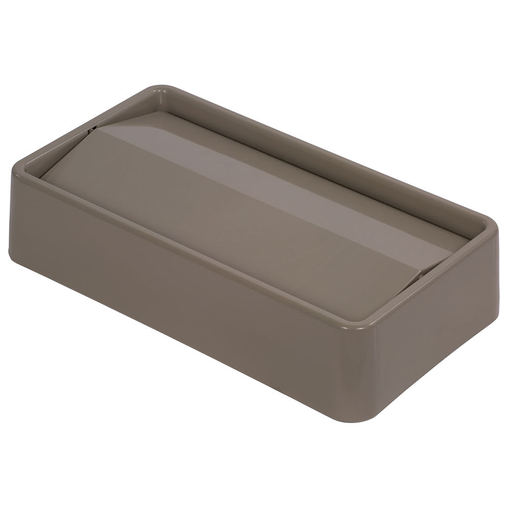 Carlisle 34202406 Rectangle Swing Top Trash Can Lid - Plastic, Beige