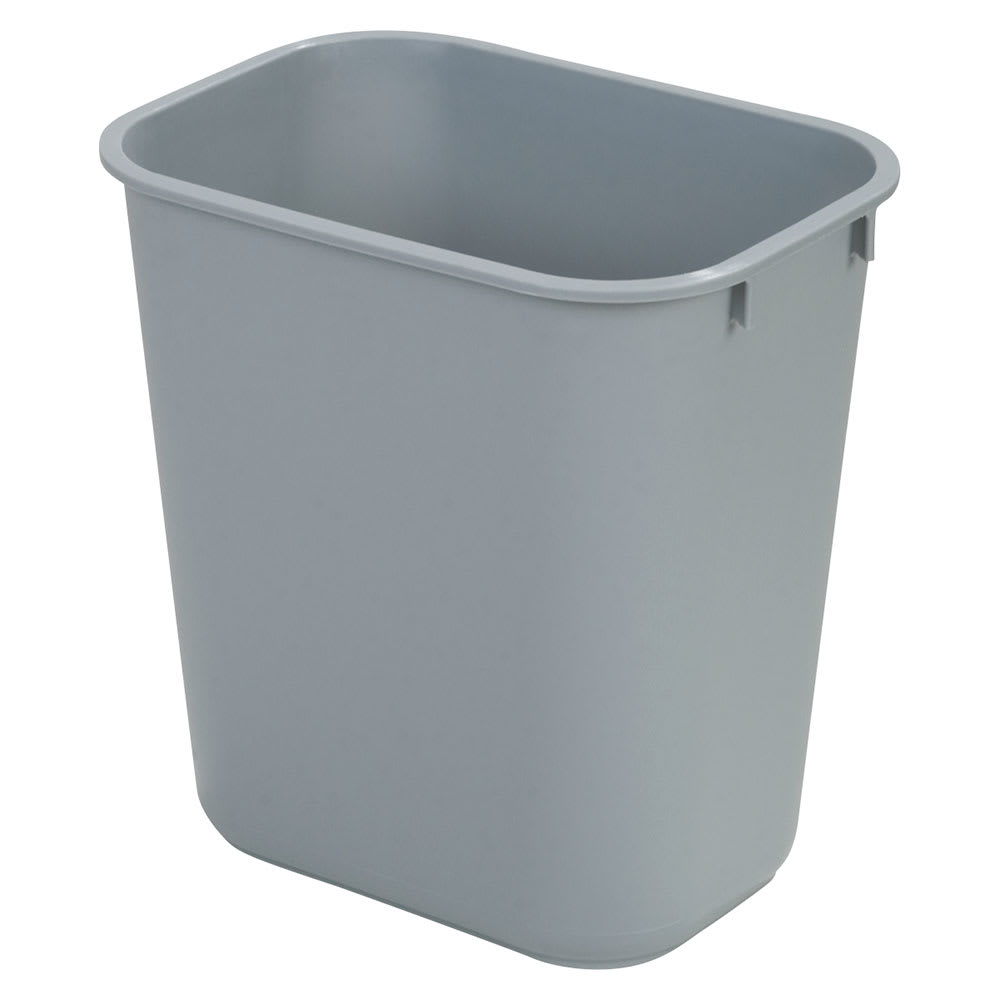 Carlisle 34291323 13-qt Rectangle Waste Basket - Plastic, Gray