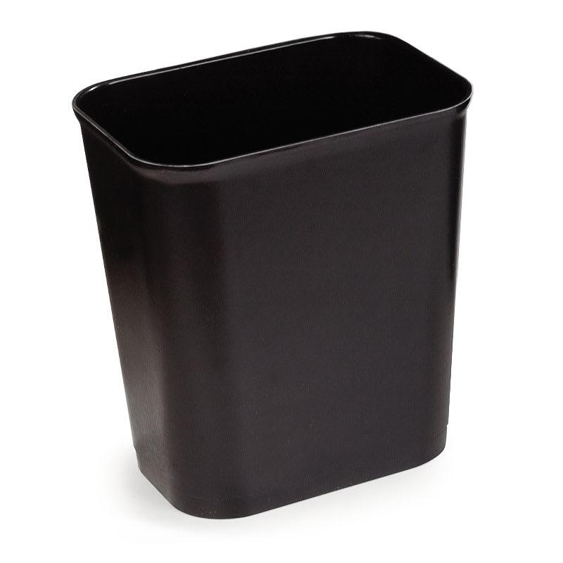 Carlisle 34291503 14-qt Rectangle Waste Basket - Plastic, Black