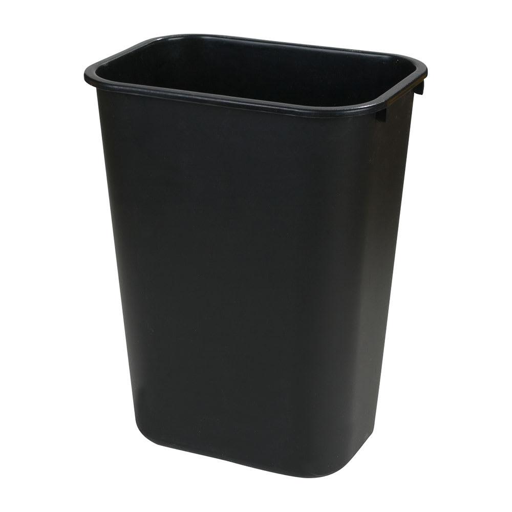 Carlisle 34292803 28-qt Rectangle Waste Basket - Plastic, Black