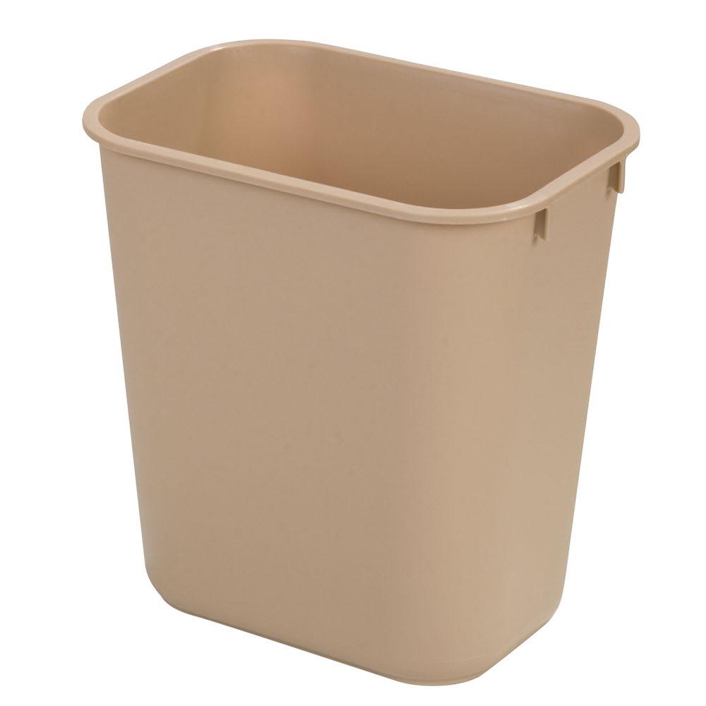 Carlisle 34292806 28-qt Rectangle Waste Basket - Plastic, Beige
